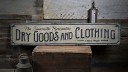Clothing Sign Dry Goods Decor -Distressed Wooden Sign ENS1001960A