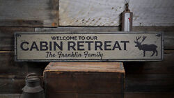 Cabin Retreat Sign Wood Cabin Decor -Distressed Wooden Sign ENS1001909