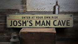 Man Cave Decor Man Cave Sign -Distressed Wooden Sign ENS1001927