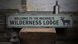 Wilderness Lodge Sign Wood Lodge Decor -Distressed Wooden Sign ENS1001912