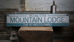 Mountain Lodge Decor Wood Lodge Sign -Distressed Wooden Sign ENS1001994