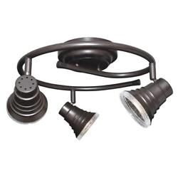 Oil Rubbed Bronze Integrated LED 3 Light Track Lighting Ceiling $39.99