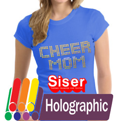 Siser Holographic Heat Transfer Vinyl HTV for T-Shirts 20