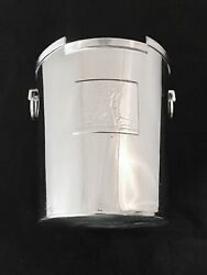 Rockwell Kent Ice  Champagne Wine Bucket Chase Copper Brass Co.   Deco Chrome