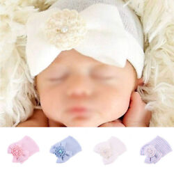 Cute Newborn Toddler Girl&Boy Baby Infant Warm Knit Hospital Hat Beanie Bow Cap