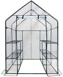 Ogrow Deluxe Walk-in Clear 3-tier 12-shelf Portable Greenhouse