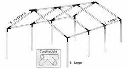 40x50 Commercial Tent frame only