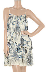 Roberto Cavalli Printed Silk Crepe Dress