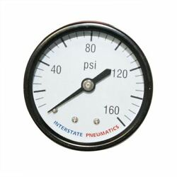 Air Pressure Gauge 2 Inch Dial 160 PSI 14 Inch NPT Rear Back Mount Mounted $14.99