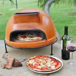 Rustic Clay Pizza Oven Outdoor Portable Wood Fired Brick Tabletop Space Heater