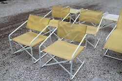 Vintage Brown Jordan Folding Patio Pool Chairs Tables Chaise Lounge Mid Century