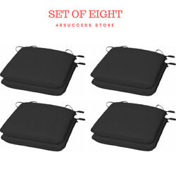 8 Dining Seat Cushion Universal Chair Pad Set Patio Garden Outdoor Room Kitchen