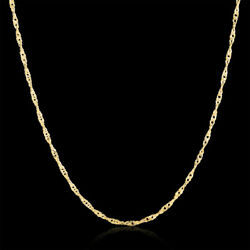 Gold Filled 3 color wedding Necklace Jewelry Twisted Chain Fashion Cute women
