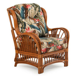 Rattan Man Indoor Wicker Arm Chair by American Rattan