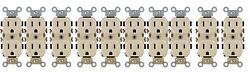 NEW LEVITON Commercial Duplex Outlet 15 Amps Ivory 5 15R 0BR15 0IS 10 Pack