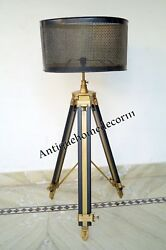 Nautical Collectible Marine Floor Shade Lamp With Tripod Without Shade Item Gift $151.99