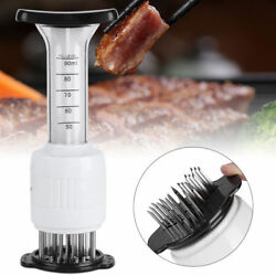 Home Kitchen Steak Meat Injector Tenderizer Needle Flavor Marinade Sauces Tool