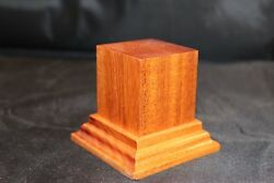 1.75x1.75x2.5 Hand Made Wooden base for figuresminiatures - Solid Mahogany wood