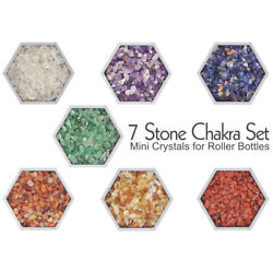 7 Stone Chakra Mini Crystal Set Tiny stones for Orgonite and EO Roller bottles $13.95
