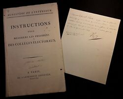NAPOLEON BONAPARTE LETTER SIGNED & INSTRUCTIONS COLLEGES ELECTORALS - 1809 SET