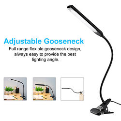 5W Clip On Flexible Lamp Metal Dimmable USB Desk Bed Reading Book Light 48LED $15.99