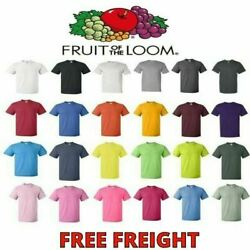 Fruit of the Loom Mens T Shirts HD 100% Cotton Short Sleeve Tee S 6XL 3930 $5.99