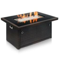 Outland Living Series 401 Brown 44-inch Outdoor Propane Gas Fire Pit Table...