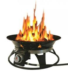 Outland Firebowl 863 Cypress Outdoor Portable Propane Gas Fire Pit with...