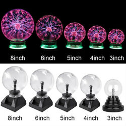 Magic Plasma Ball Sphere Nebula Lightning Lamp Desktop Light Party Crystal Globe $27.90