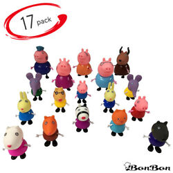 17Pcs Peppa Pig Familyamp;Friends Emily Rebecca Suzy Kids Action Figures Toy Gift $14.99