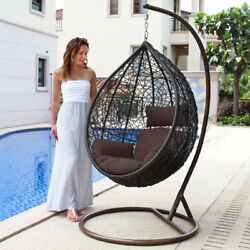 Luxury Hanging Hammock Porch Swing Chair wStand Patio Outdoor Swinging Chair
