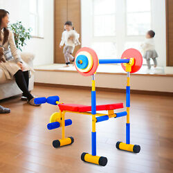 Fun and Fitness Exercise Equipment for Kids Children Weight Bench Set New