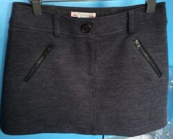 Bonpoint Designer Girls Charcoal Grey Skirt Size 10