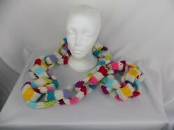 Little Miss Matched Multi-Color Chain Infinity Scarf Women's 40