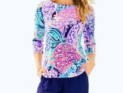 NEW Lilly Pulitzer WAVERLY TOP Multi All That She Wants Purple Pink Blue XS S