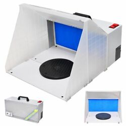 Portable Airbrush Paint Spray Booth Kit Oder Extractor Gun Toy Hobby Model Parts $73.90