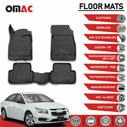 Floor Mats Liner 3D Molded Black Fits Chevrolet Cruze 2011 2015 $59.42