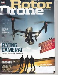 Rotor Drone Magazine Flying Camera 37 Cutting Edge Products March April 2015 a3 $9.99