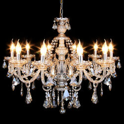 Elegant Modern Ceiling Light Crystal Chandelier Pendant Lighting Fixture 10 Lamp