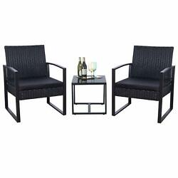 Outdoor Patio Furniture Lounge Patio Chairs and Table Cushions Webbing Covers
