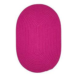Colonial Mills Braided Rugs in Magenta Solid Solid Outdoor Area Rug BR70
