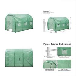 Walk In Greenhouses Greenhouse With Clear Cover Portable House 6 Mesh PE For