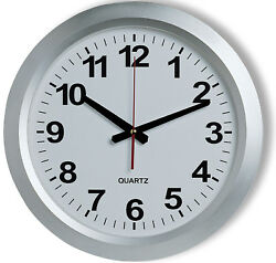 Large railway station style wall clock 38cm Diameter Easy to Read