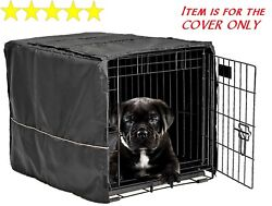 Dog Crate Pet Cage Kennel COVER Black Quiet Time Breathable 24quot; Small $14.99