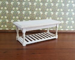 Dollhouse Miniature Unfinished Large Kitchen Island Prep Table 1:12 Scale $11.00