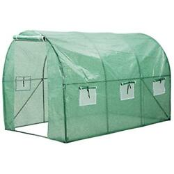 Finether Walk Greenhouse With Clear Cover Portable House 6 Mesh PE For Indoor