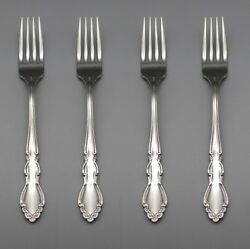 Oneida Stainless Dover Glossy Dinner Forks Set of Four * USA Made $36.99