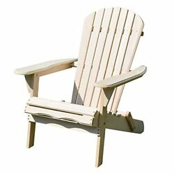 Merry Garden ADIRONDACK CHAIR Outdoor Foldable Wooden PATIO CHAIR Natural