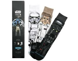 New Men#x27;s Stance Star Wars Socks 3 Gift Pack Rogue One Size Large 9 12 $34.99