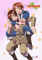 Hetalia Axis Powers Italy and Romano Poster Wall Scroll (27.8 x 19.7 inches) $14.95